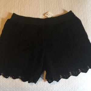 Girls Justice Black Lace Shorts 18